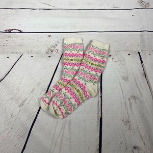 American Eagle Pink Printed Crew Socks